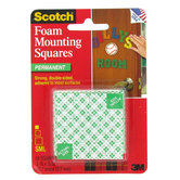 "Scotch 1/2"" x 1/2"" Permanent Foam Mounting Squares"